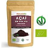 Bayas de Acai Orgánico en Polvo [Freeze - Dried] 100g | Pure Acaí Berry Powder Extracto crudo de la pulpa de la baya de açaí liofilizado | 100% Bio cultivado en Brasil | Superalimento Ecológico.