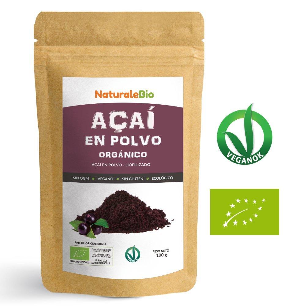Bayas de Acai Orgánico en Polvo [Freeze - Dried] 100g | Pure Acaí Berry Powder Extracto crudo de la pulpa de la baya de açaí liofilizado | 100% Bio