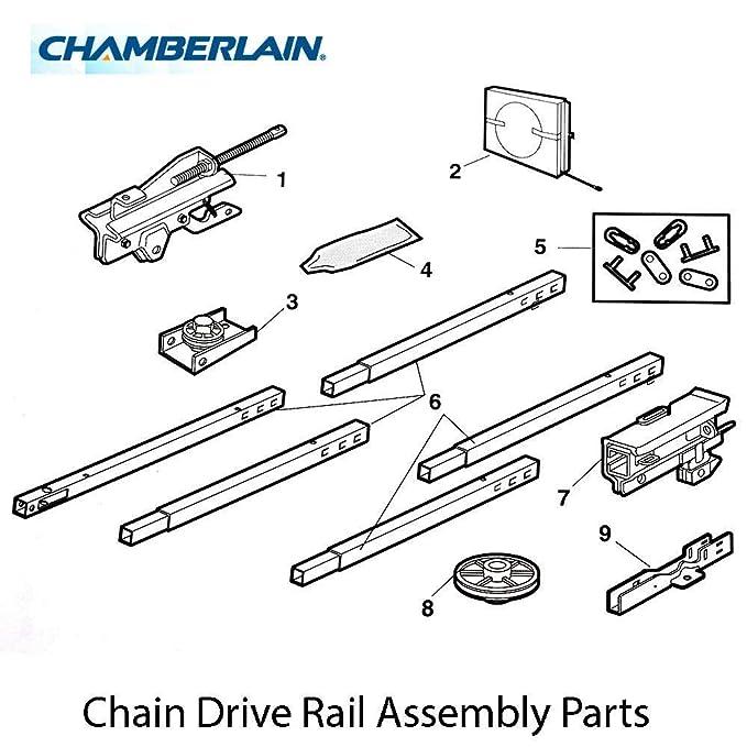 Chamberlain 041d0598 1 U Bracket Adapter Kit Square Rail