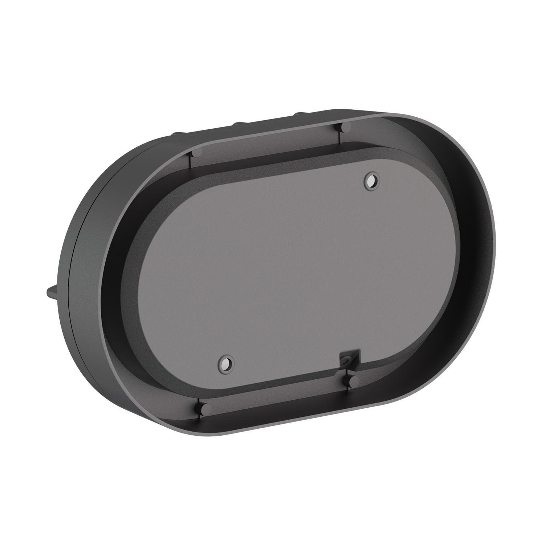 inkl schwarz Outdoor GX53 LED Leuchtmittel Aluminium war Wandleuchte Tabit