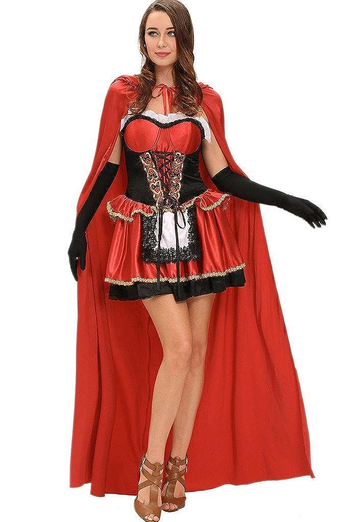 nuevo listado Fortuning's JDS Cuento de hadas adulto adulto adulto poco rojo 3pcs traje Halloween Cosplay  tienda de descuento