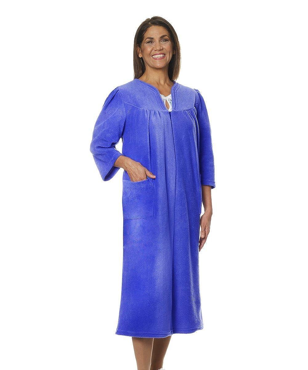 Silvert's Womens Warm Open Back Adaptive Fleece Robe - House Coat