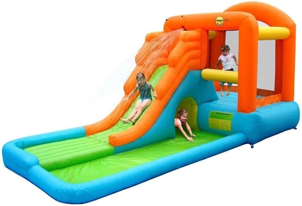 Acción Air – 9409 – Castillo Hinchable Gigante con tobogán/Piscina ...