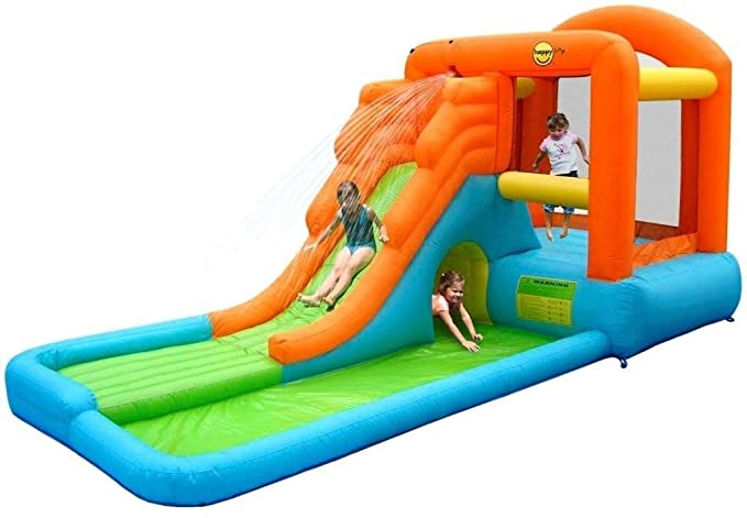 Acción Air - 9409 - Castillo Hinchable Gigante con tobogán/Piscina ...