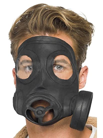 Gas Mask. Rubber (Costume Accessories) - Unisex - One Size (máscara/