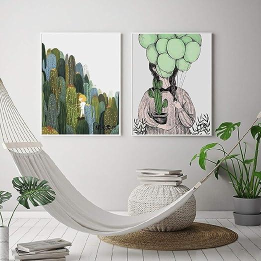 jzxjzx Pintura Decorativa de Dibujos Animados suculentas ...