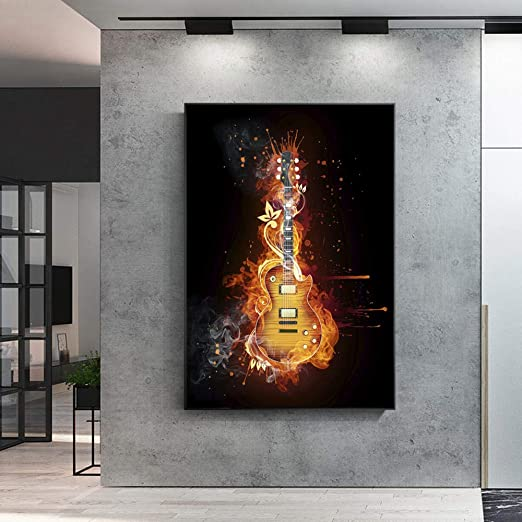 WDZSHJ Impresión De Lienzo,Arte De Pared para Guitarra Guitarra ...