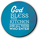 God Bless The Kitchen Fridge Magnet by Seven Rays, Dimensions - 3 X 3 Inches, Round