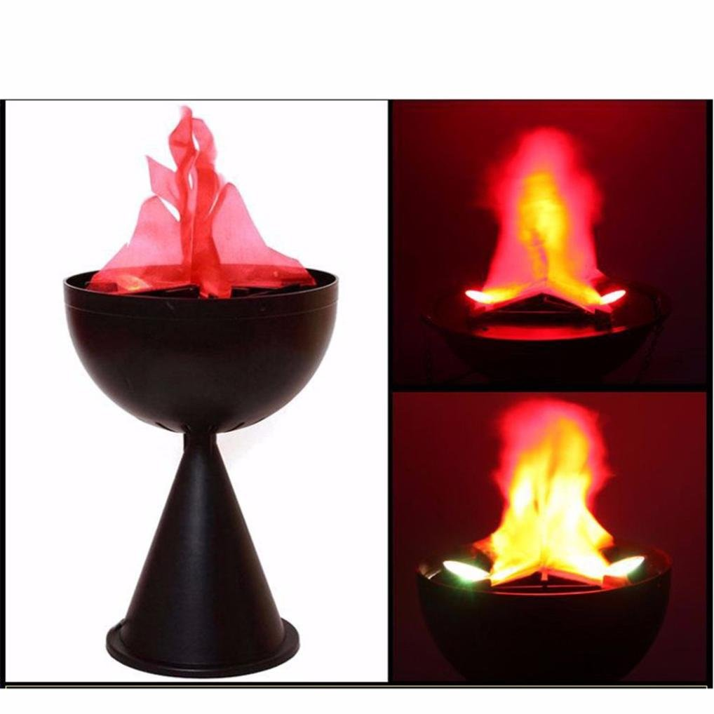 Highpot Cauldron Flame Light, LED Flame Fire Light Hanging Nature Brazier Lamp for Festival Party Decorations (A)