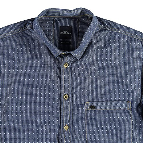 engbers Herren Hemd langarm, 22432, Blau