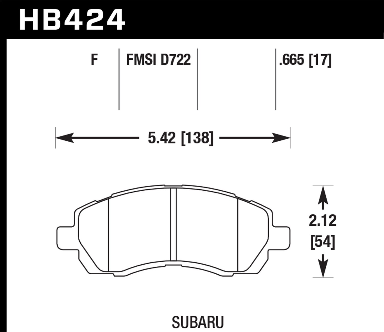 Hawk Performance HB424F.665 HPS Performance Ceramic Brake Pad