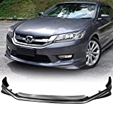 Front Bumper Lip Fits 2013-2017 Honda Accord | MD Style Black PP Front Lip Finisher Under Chin Spoiler Add On by IKON MOTORSPORTS | 2014