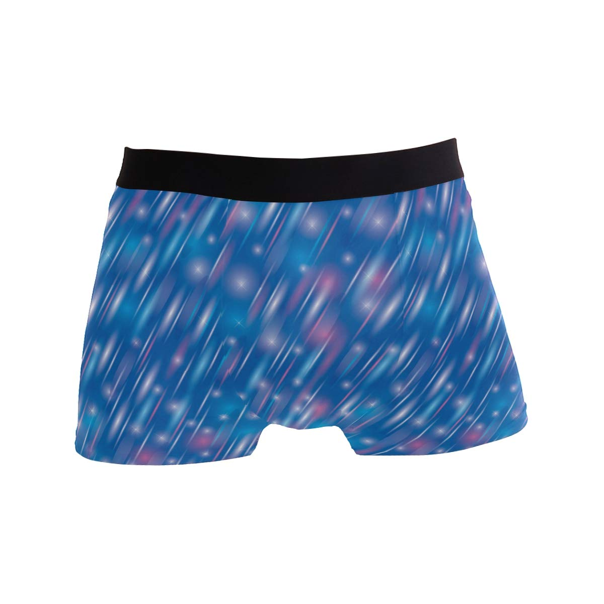 Unreal 3D Starry Meteor Mens Sports Performance Shorts Underwear 2 Pack