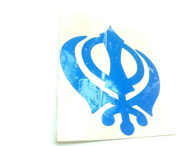 Amazon Devdeep Set Of 5 Punjabi Sikh Khanda Car Window Sticker