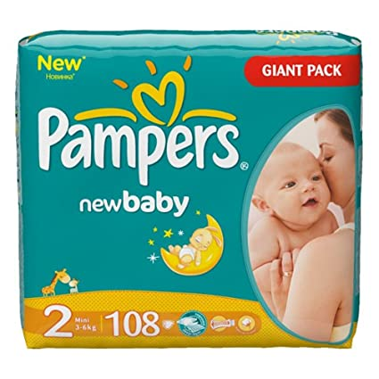 Pampers Baby Dry - Pañales mini, talla 2, 3-6 kg, hasta 648 unidades ...