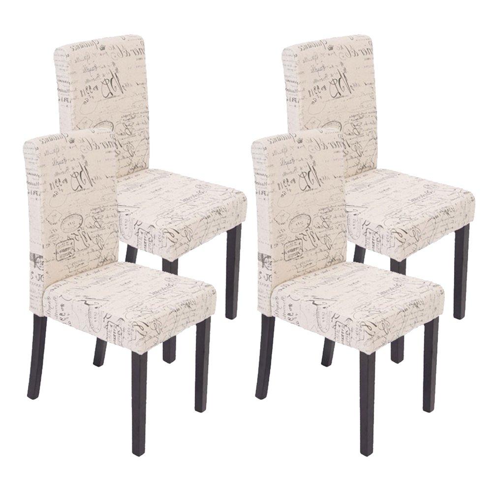 Set 4x sedie Littau tessuto per sala da pranzo 43x48x90cm ~ fiori ...