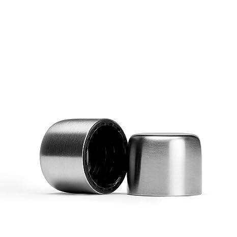 Memobottle – Botella de Agua Reutilizable Delgado – Fabricado en plástico Reciclado sin BPA – 750 ml/375ml- Memo Botella, Stainless Steel Metallic Lid