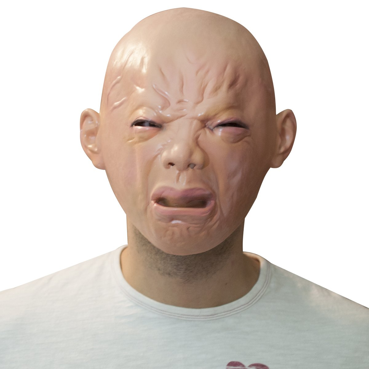 The Mask Biz Crying Ugly Baby Head Funny Mask