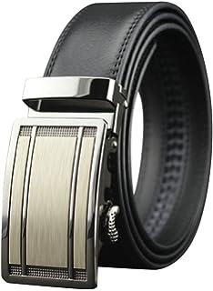 QHA Mens Automatic Leather Belt Buckle Ratchet Waist Q5075