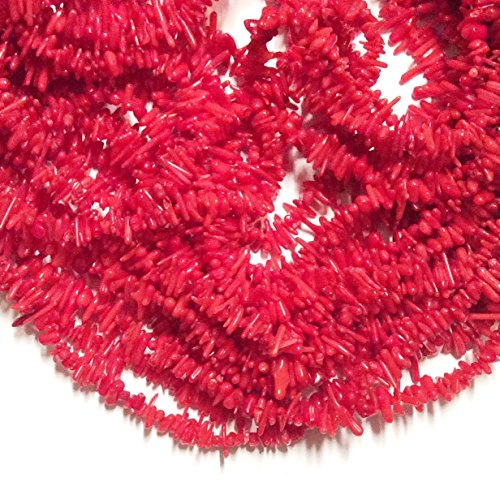 - Imagine If...Red Coral Sticks 8-14mm, 15.5