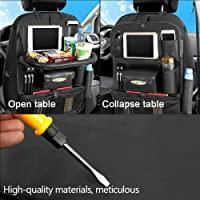 Multifunctional Waterproof Travel Car Seat Back Organiser iPad Holder Foldable Table Desk Tray Bag Storage Pockets USB