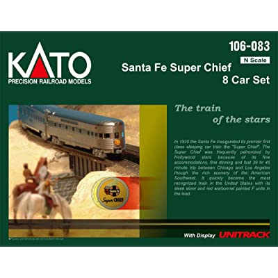 N Santa Fe Super Chief - 8 Car Named Train Set: Toys & Games
