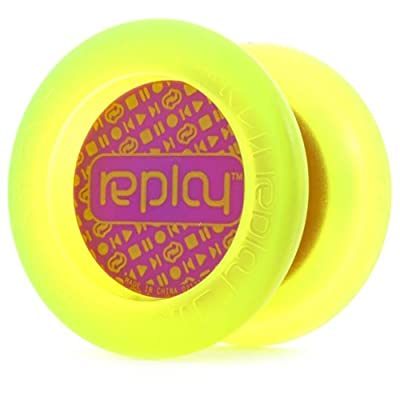 YoYoFactory Replay Yo-Yo - Great Beginner Yo-Yo (Edge Glow Purple Cap): Toys & Games