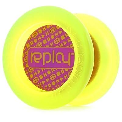 YoYoFactory Replay Yo-Yo - Great Beginner Yo-Yo (Edge Glow Purple Cap): Toys & Games