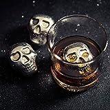 Whiskey Stones - Stainless Steel Chilling Rocks 6 Skull Heads