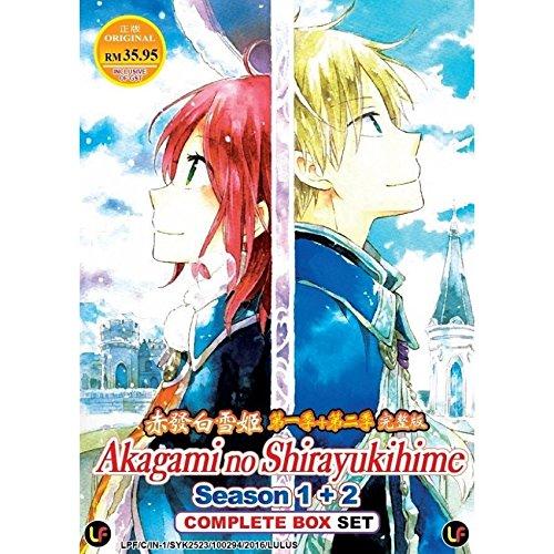 Akagami no Shirayukihime Season 1 + 2 (TV 1 - 24 End) DVD 2 Discs (24 Episodes) Japan Japanese Anime / English Subtitles