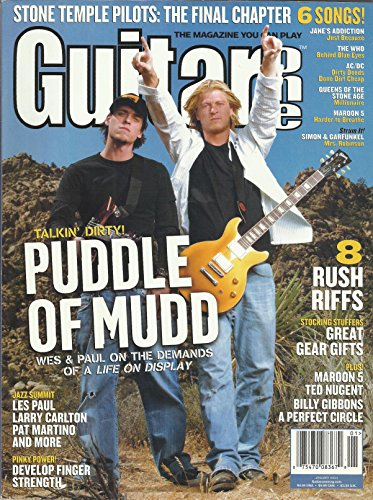Guitar One Magazine January 2004 Puddle of Mudd, Stone Temple Pilots, 6 Songs: Jane's Addiction Just Because, Queens of the Stone Age Millionaire, Maroon 5 Harder to Breathe and More