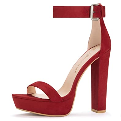 3e149f1d75347 Allegra K Women's Ankle Strap Platform High Heels