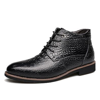 gracosy Stivali da Uomo Impermeabili, Oxford Scarpe da Neve Invernali cap Toe più Velluto Delicatamente Morbido Stringate di Piatto Calzature Sneaker