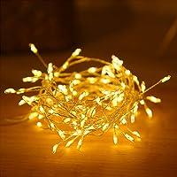 100 luces de hadas del racimo del LED, petardos Starry String Light Wedding Party Home Garden Dormitorio Exterior Interior USB alimentado