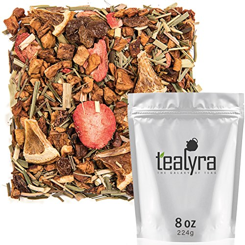 Tealyra - Lovely Lemongrass - Strawberry - Orange - Fruity Herbal Loose Leaf Tea - Hot and Iced Drink - Vitamins and Antioxidants Rich - Caffeine Free - All Natural ()