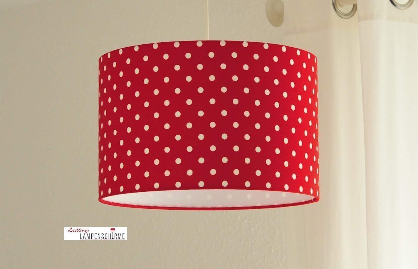 Deckenlampe fü rs Kinderzimmer fü r Mä dchen mit Punkten in Rot Weiß