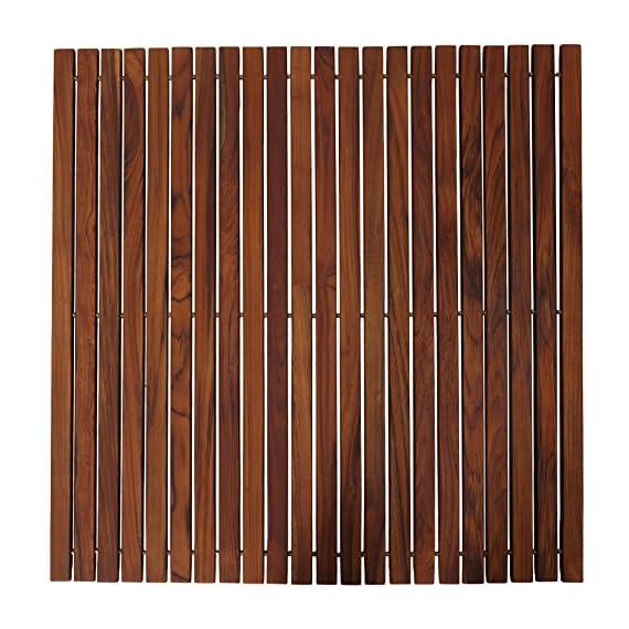 "Bare Decor Fuji String Spa Shower Mat in Solid Teak Wood Oiled Finish. XL Square 30"" x 30"" -  - bathroom-linens, bathroom, bath-mats - 61K6pd%2BsG8L. SS570  -"