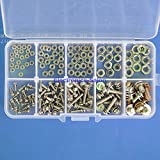 Electronics-Salon M2 M2.5 M3 M4 M5 Steel Screw / Nut Assortment Kit, SEM Phillips Pan Head.