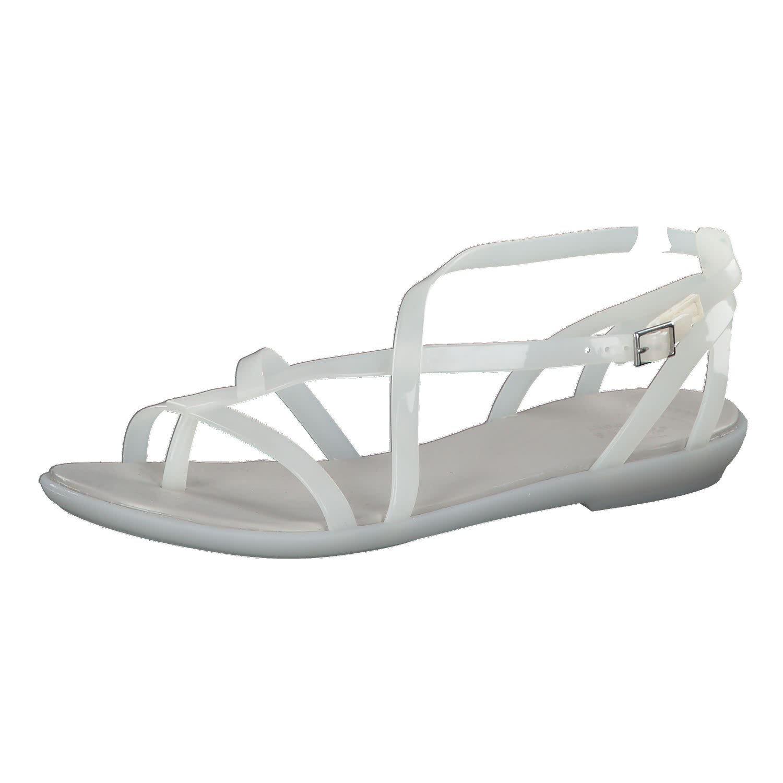 Oyster Pearl blanc Crocs Isabella Gladiator Sandal Paradise rose