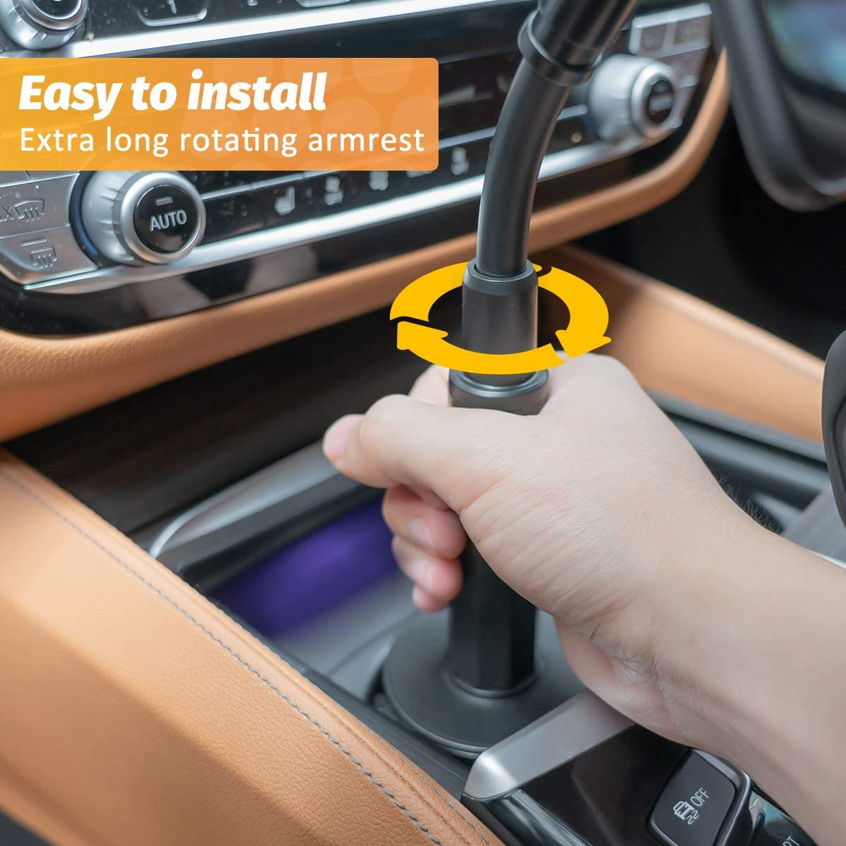 SHAWE Car Cup Cell Phone Mount 3.5-6.5inch Universal Adjustable 360 Flexible Neck Automobile Phone Car Holder Compatible with iPhone 11 Pro//XS Max//XR//X//8//7//6 Plus and Samsung Note 10//9//S10//S9//S8