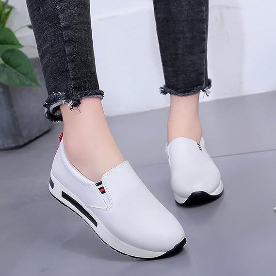 ... Botas planas gruesas para mujer con cordones Zapatillas deportivas de una sola pierna de fondo plano zapatos de mujer: Amazon.es: Ropa y accesorios