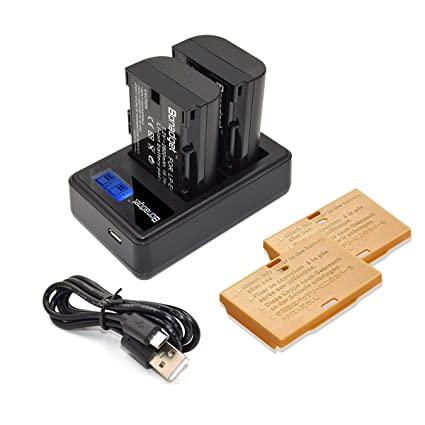 Bonadget LP-E6 LP-E6N Battery and Charger with LCD: Amazon in