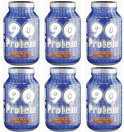 - (6 PACK) - Nutrisport - 90+ Protein Chocolate NSP-90P9C | 908g | 6 PACK BUNDLE by Nutrisport - Aspartame Free