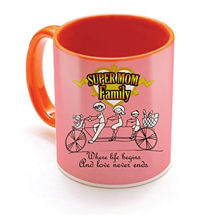 Sky Trends Mothers Day Gift Birthday For Mother Best Printed Orange Coffee