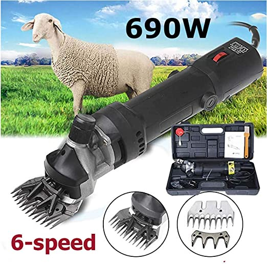 690W 220V Electric Shears Shearing Clipper Animal Sheep Goat Pet Farm Machine