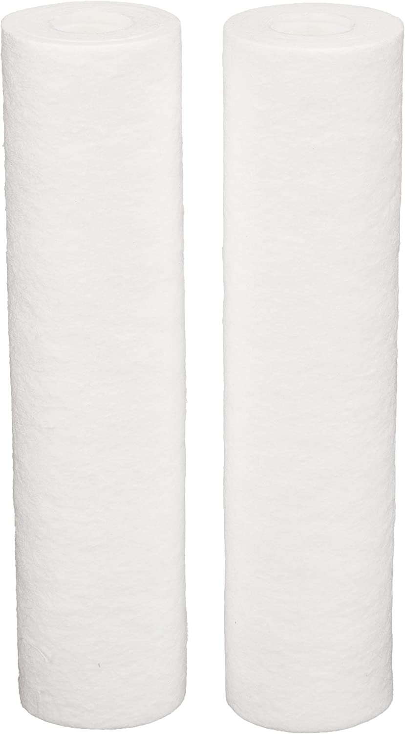AmazonBasics AMZN-P5A-2PK Standard Duty Premium Water 8,000 Gallons, Equivalent to Culligan P5A, 2-Pack Whole House Replacement Filter, White
