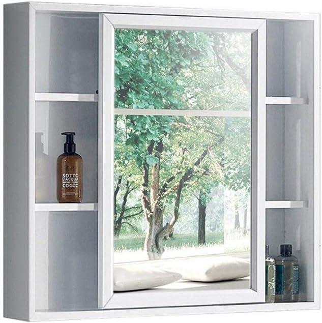 BJYX Perfil de Aluminio Espejo de baño Armario con Espejo Caja de Limpiar la Caja Colgar de la Pared del gabinete el Espejo Puede Deslizar hacia la Izquierda y la Derecha: Amazon.es: