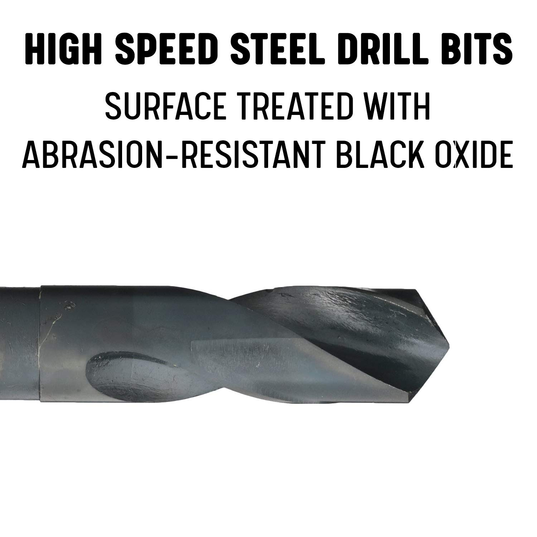 Drill America 9//16 Reduced Shank High Speed Steel Drill Bit with 1//2 Shank DWDRSD Series