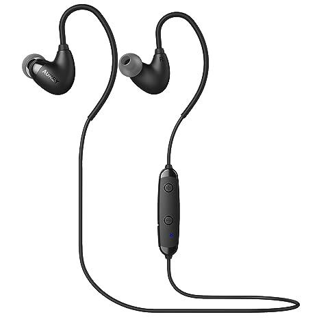AUKEY Auricolari Bluetooth 4.1 Cuffie in Ear Wireless Sport Stereo con  Microfono per iPhone a17f7f14e63a