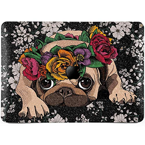 Lex Altern Glitter MacBook Air Case 13 inch Pro 15 12 11 2018 2017 Cute Puppy Bling Mac Pug Hard Funny Dog Retina Crystal Cover Flower Shiny Soft 2016 Roses Laptop Protective Floral Girly Print Kids ()